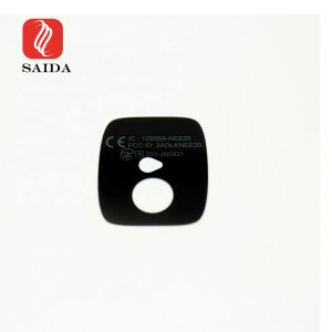 High Clarity 0.9mm Gorilla Glass Lens Tempered Glass with Silkscreen Printing for Camera Device