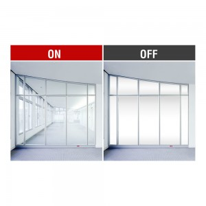 Magic Switchable Privacy Protection PDLC Smart Glass Factory Supply Price
