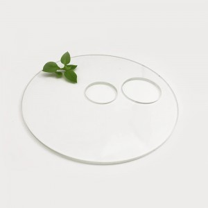 Factory Price 3mm Heat Borosilicate Glass Plate High Clear Borosilicate Glass Disc