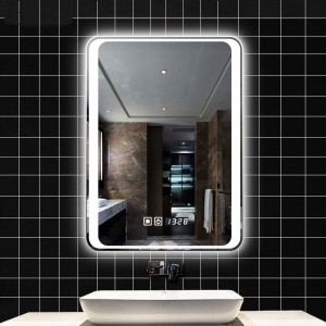 Custom 4mm Two in One Way Mirror Glass Panel for Bluetooth Smart Mirror