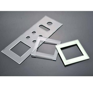 Electrical Wall Switch Socket Crystal Tempered Glass Frame Sample Available