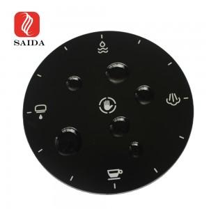 Anti-smudge 1.1mm Silkscreen Printing Glass Anti-Fingerprint Cover Glass for Coffee Machine