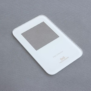 Customized Apple White Printed Tempered Glass for Smart Home PM2.5 Monitor