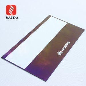 Custom Over 98% Transmittance Blue-Purple Anti-Reflective Tempered Glass for TFT Display