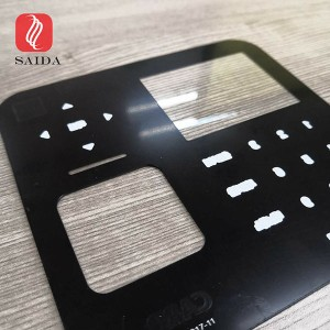 0.55mm Chemical Strengthened Cover Glass For Card Reader With Touch Keypad For Access Control