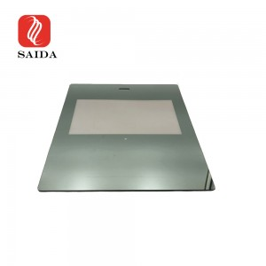 Custom 3mm 20% Transmittance Two Way Mirror Glass with Black Silkscreen Printing for Touch Screen