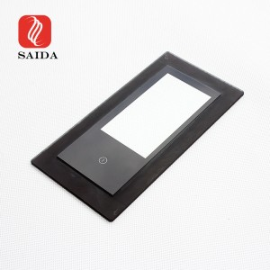 Factory Supply 6mm 8mm Black Printed Stepped Toughened Glass for Induction Cooker